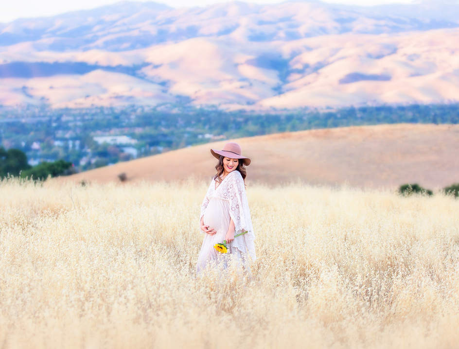 Golden Grass maternity session San Jose
