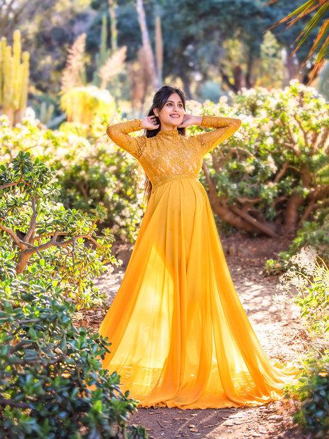 Mustard Body Suit Plus Skirt