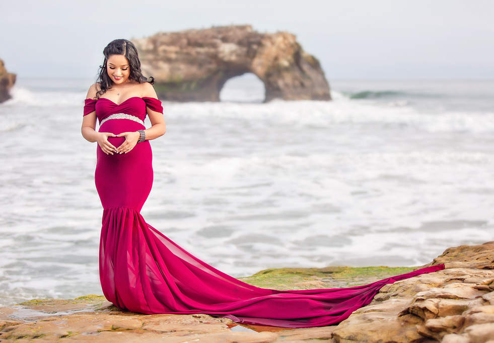 beach maternity photos Bay Area