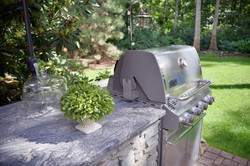 Outdoor grill and counter space