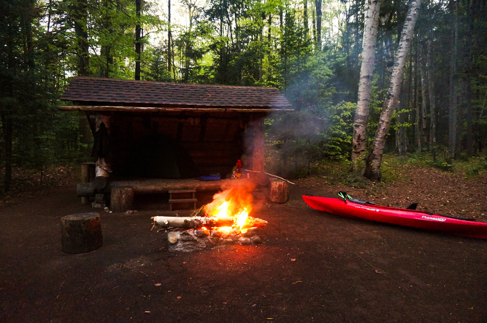 lean-to-with-kayak-hike