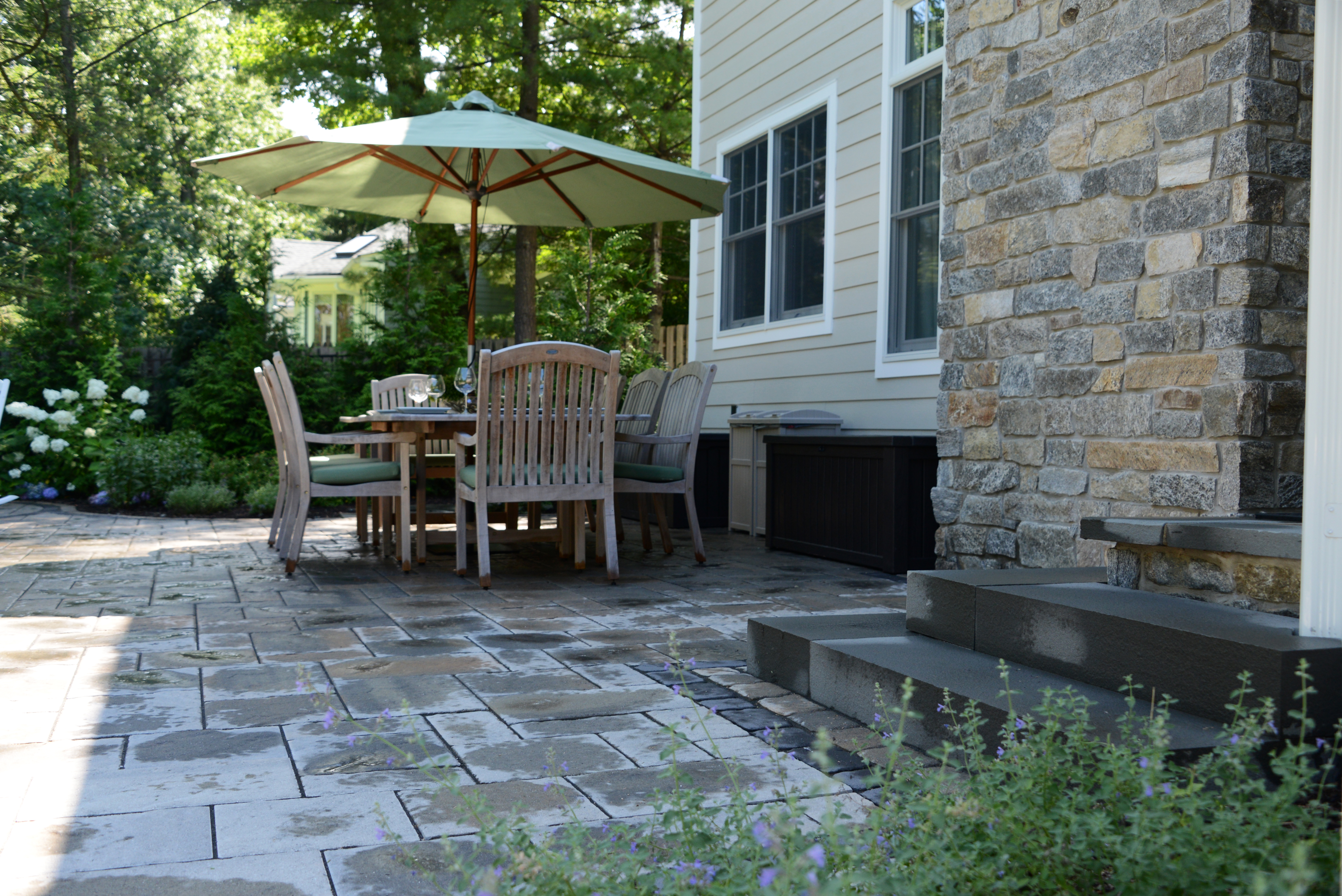 Stone work and outdoor living space