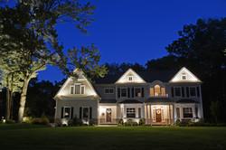 Property lighting at dusk