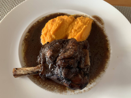 Braised Lamb Shanks With Carrot Puree