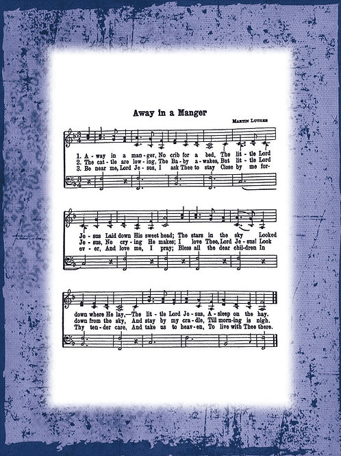 My Favorite Hymn - BLUE border