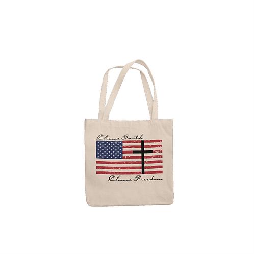 Choose Faith Choose Freedom tote bag