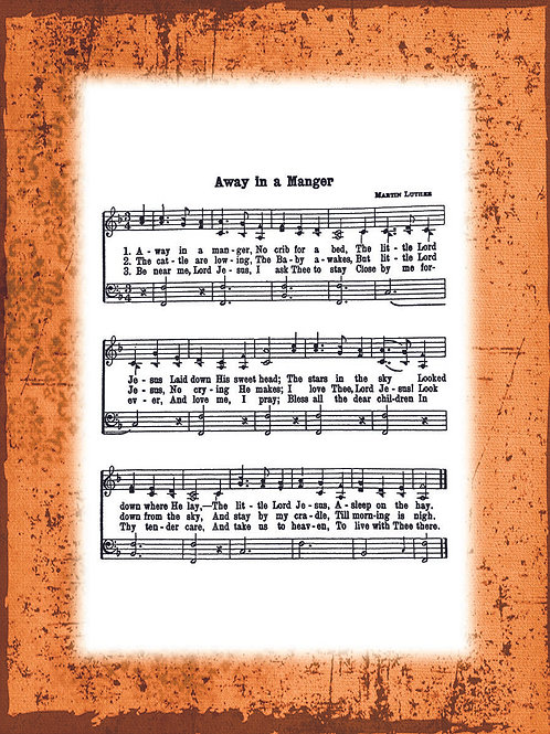 My Favorite Hymn - ORANGE border