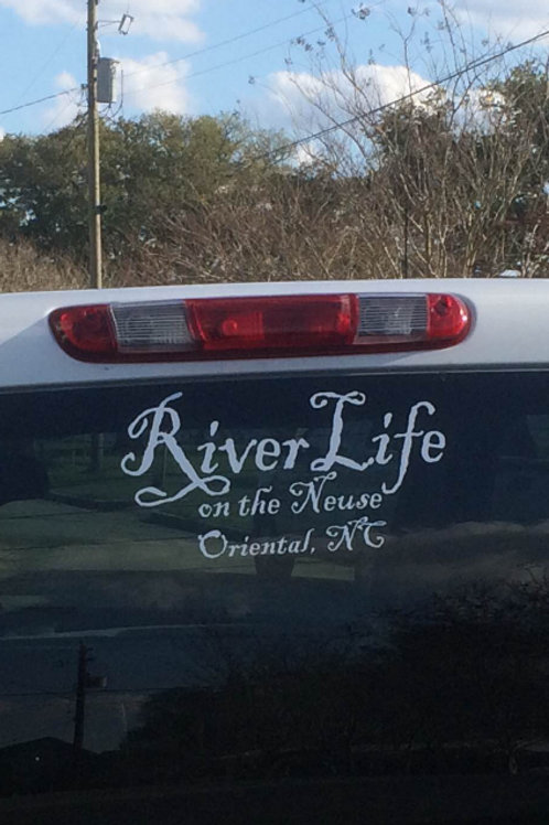River Life decal Customized with your location