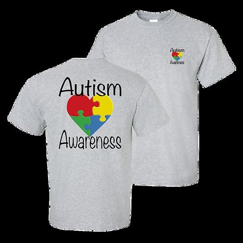 Autism Awareness short sleeve shirt - sport grey