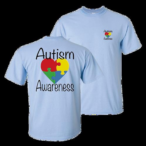 Autism Awareness short sleeve shirt - light blue