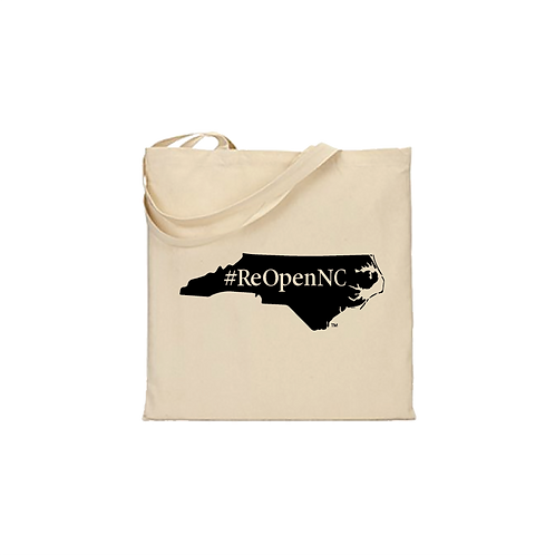 ReOpenNC flat tote bag 14.5x15.5