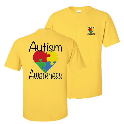 Autism Awareness short sleeve shirt - daisy