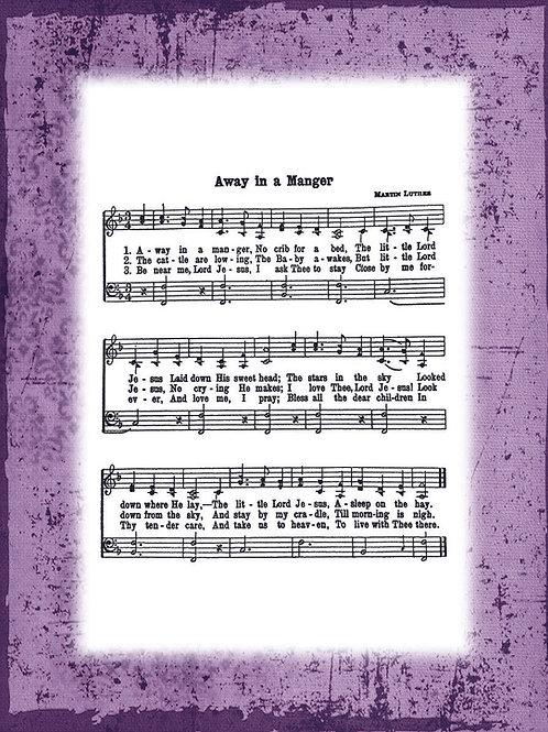 My Favorite Hymn - VIOLET border