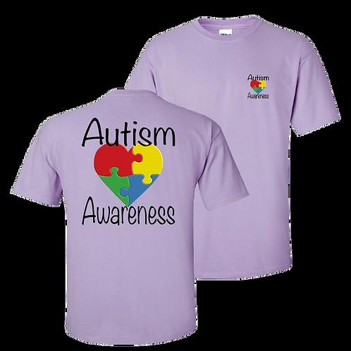 Autism Awareness short sleeve shirt - orchid