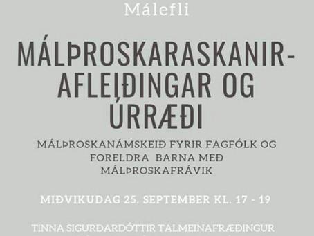Málþroskafrávik - afleiðingar og úrræði