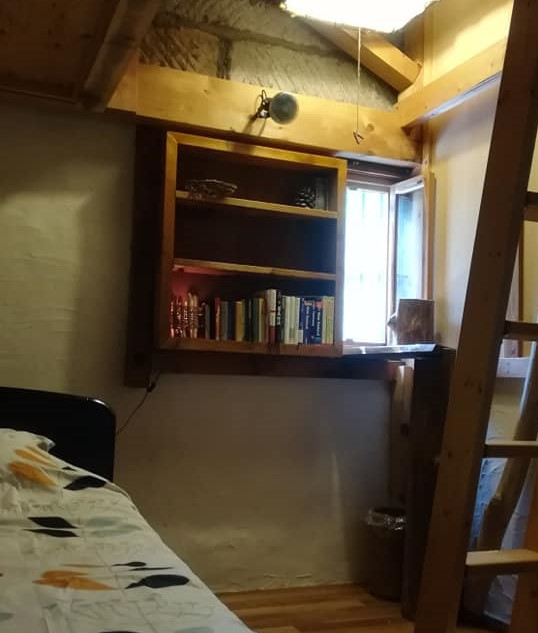single bed and loft room