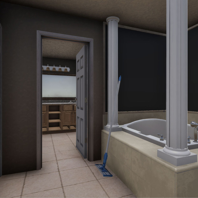 Bedroom/ Bathroom