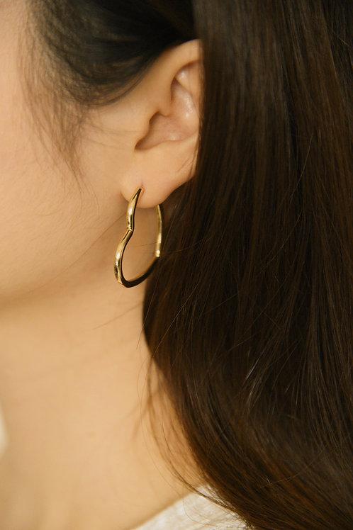 Carita Love Hoops in gold (S925)