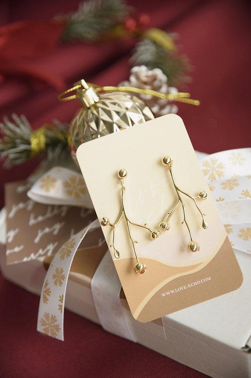 Mistletoe Drop Earrings (S925)