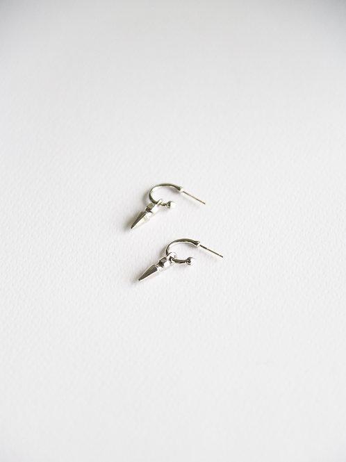 Luz Mini Hoops in silver (S925)