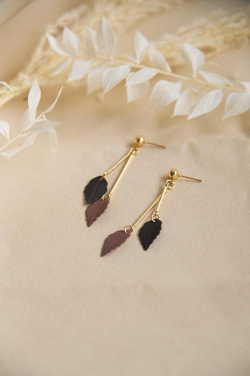 Ontario Earrings in plum (S925)