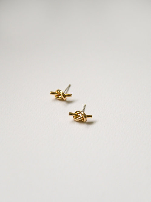Twist Knot Studs in gold (S925)