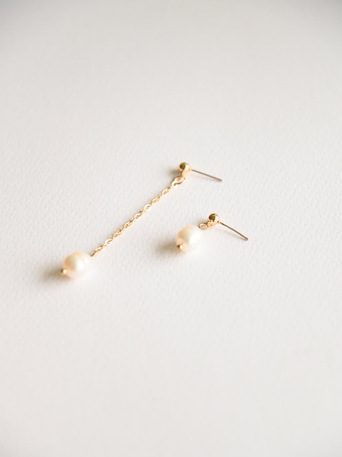 Ela Pearl Mismatched Earrings (S925)