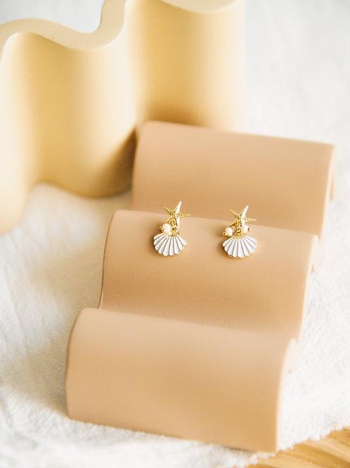 Bay seashell Earrings (S925)