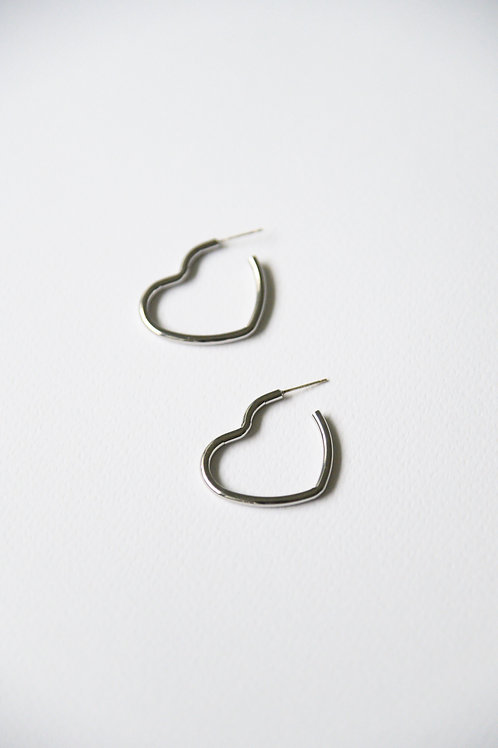 Carita Love Hoops in silver (S925)