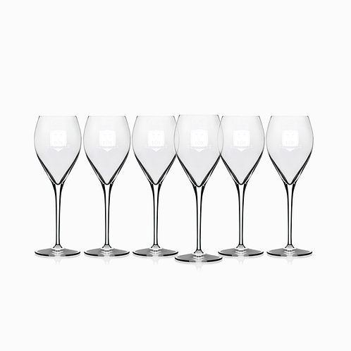 6 FOX Crémant Glasses
