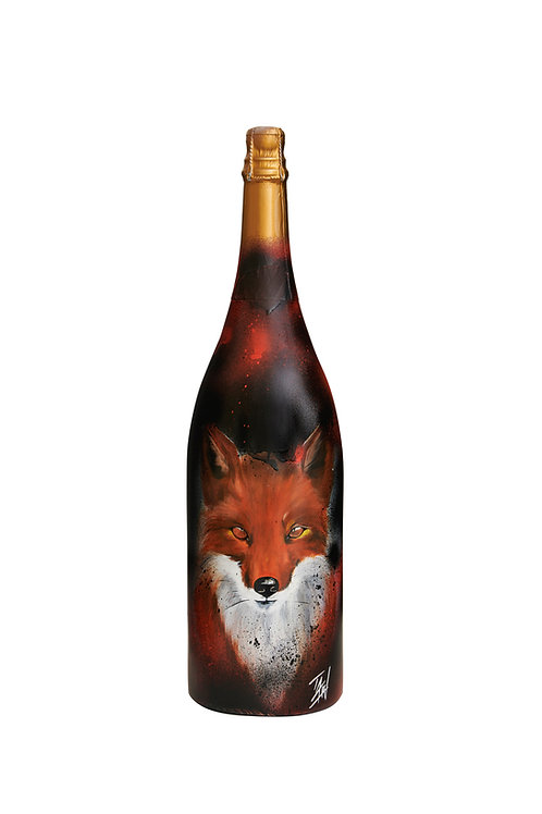 "FOX Crémant Jeroboam (3L) ""FOXI"" by artist TAW"
