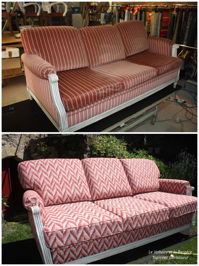 Canapé convertible de style Louis XVI