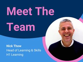 Meet The Team - Head of Skills & Learning, Nick Thow