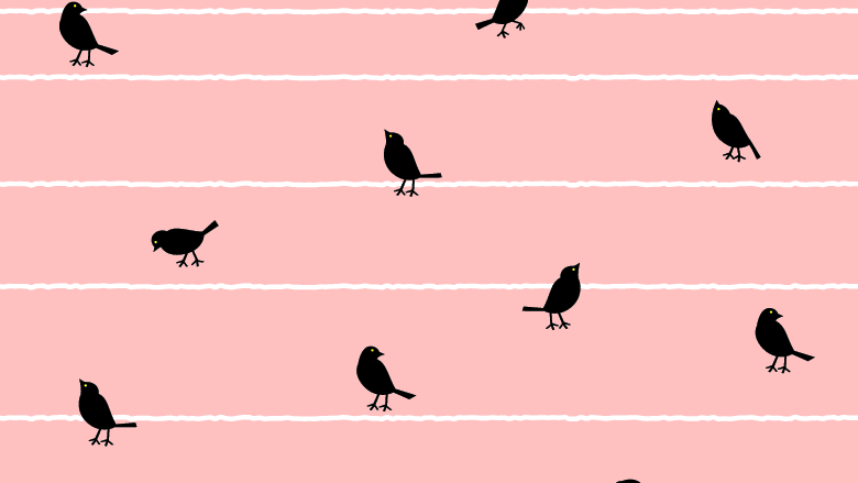 Birds singing in the morning Fabrics