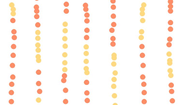 Orange and Yello Dots Pattern Fabric