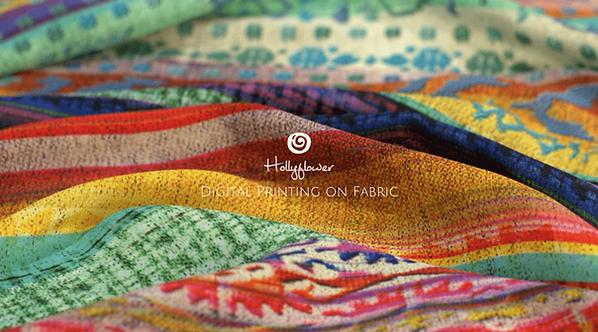 Hollyflower | Digital Printign on Silk Fabric | Surat | India