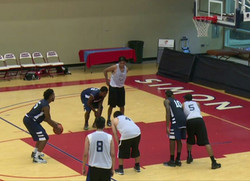 Jonathan Lowe at the line