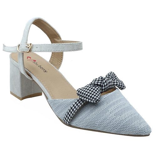 Shuberry SB-19050 Fabric Grey Sandal For Women & Girls