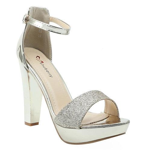 Shuberry SB-19029 Patent Gold Heels For Women & Girls