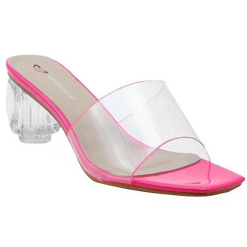 Shuberry SB-19028 Synthetic Pink Sandal For Women & Girls