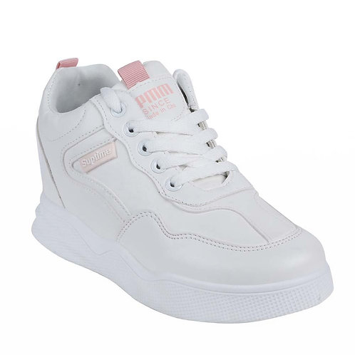 Shuberry SB-19064 Artificial Leather White Sneaker For Women & Girls