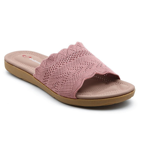 Shuberry SB-19055 Fabric Pink Flats For Women & Girls