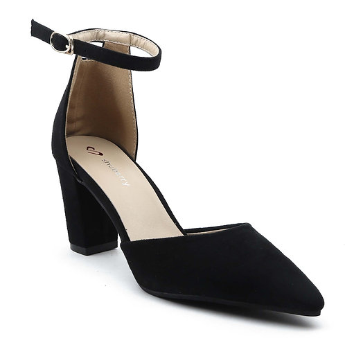 Shuberry SB-19017 Suede Black Heels For Women & Girls