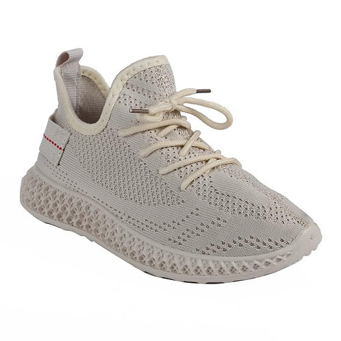 Shuberry SB-19061 Fabric Beige Sneaker For Women & Girls