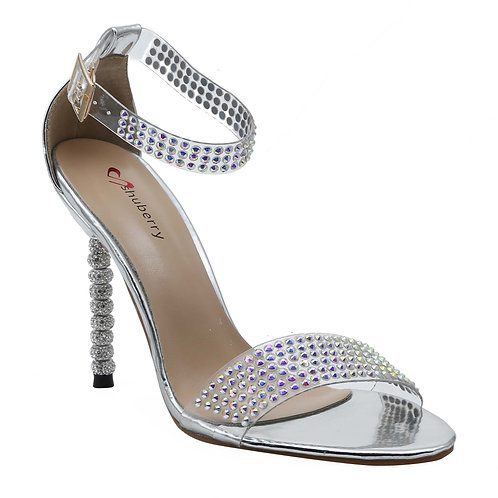 Shuberry SB-19002 Patent Silver Heels For Women & Girls