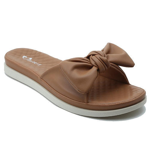 Shuberry SB-19076 Faux Leather Tan Sandal For Women & Girls