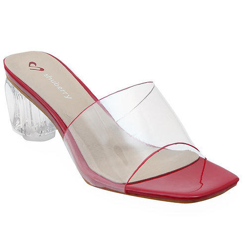 Shuberry SB-19028 Synthetic Red Sandal For Women & Girls
