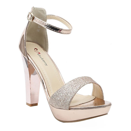 Shuberry SB-19029 Patent Champagne Heels For Women & Girls