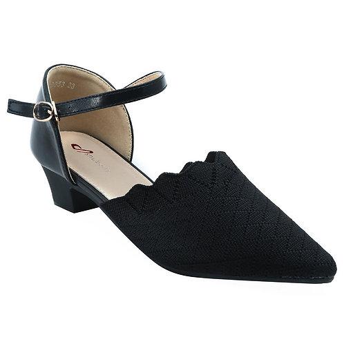 Shuberry SB-19053 Fabric Black Sandal For Women & Girls