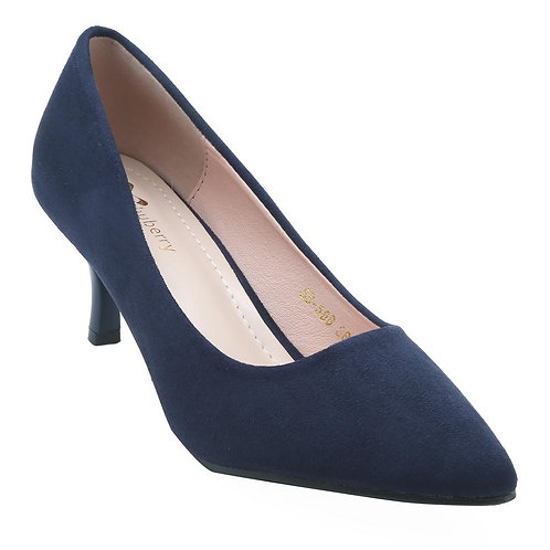 Shuberry SB-19072 Suede Navy Pumps For Women & Girls